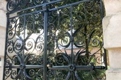 The wrought iron Sword Gate of Sword Gate House