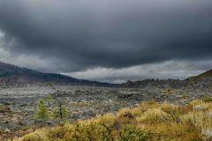 Horizon of lava rock
