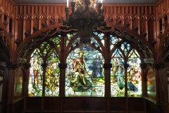 Showstopping gothic windows preserved from the sidewheel steamer City of Detroit III