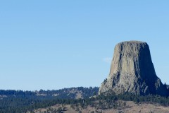 First glimpse of Devils Tower