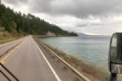 Flathead Lake shore road