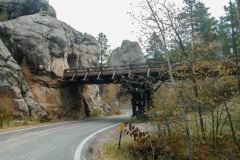 One of the Pigtail Bridges from the road