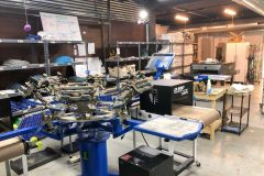 Inside Moonlight Makers' on-site printing studio