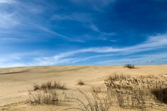 Blue skies over Jockey's Ridge