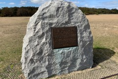Marker showing the site of takeoff