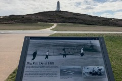 Big Kill Devil Hill from which the Wright Brothers would test gliders