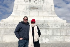 Mark and me at the Wright memorial
