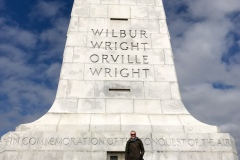 Heather and the Wright Memorial