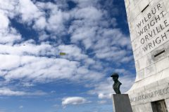 The Wright Brothers' legacy: an airplane towing a banner ad