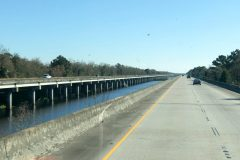 The drive into New Orleans -- highways built on water