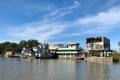Bayou-front hotels damaged by Hurricane Katrina