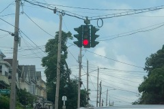 Red means stop (Tipperary Hill, Syracuse, NY)